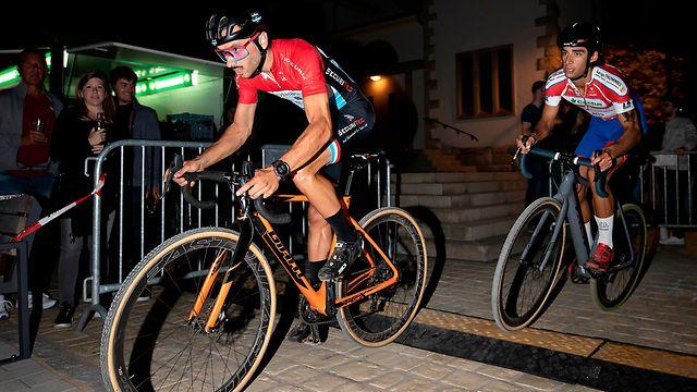 Vincent Dias Dos Santos (LC Tetange) vor Tristan Parrotta (UC Dippach) / Cyclocross, Urban Cyclocross by night / 21.09.2019 / Reckingen/Mess / Foto: Christian Kemp