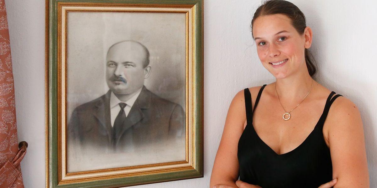 Bache Jang und seine Urururenkelin Caroline Huberty