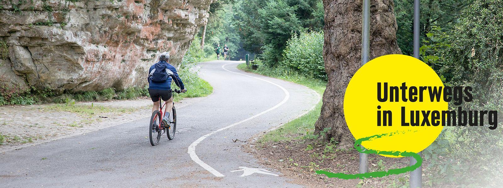 Der Unesco-Fahrradrundweg führt unter anderem durch das Petrusstal. Dort kann man unter anderem die Ruinen der Festung Luxemburg entdecken.