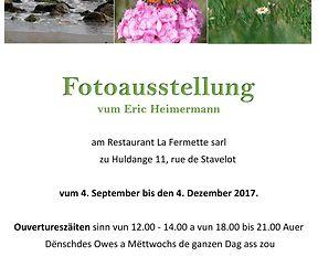 Invitatioun ob  meng Ausstellung