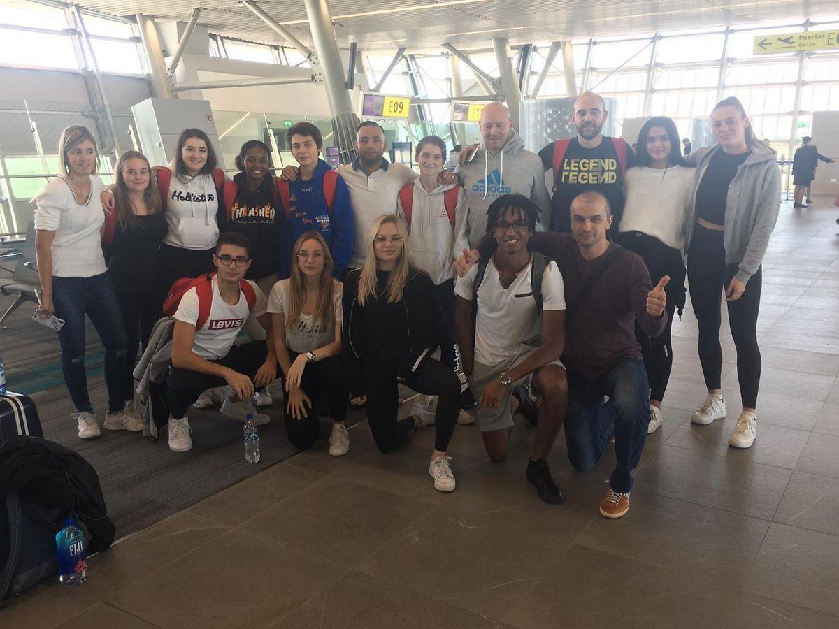 Die Luxemburger Delegation kurz vor dem Rückflug nach Europa.