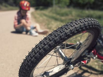 Despite the boy getting a bit of a scare, he managed to get away with only a few abrasions from the incident. Nevertheless, his bike was damaged completely.
