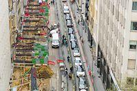 Stau im Bahnhofsviertel: Die vielen Baustellen verschlechterten die Verkehrssituation in der Hauptstadt im Vorjahr beträchtlich.