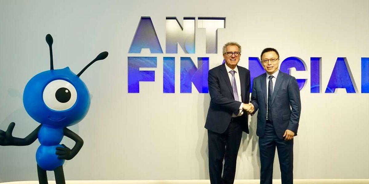 Avant de quitter la Chine, le ministre des Finances Pierre Gramegna a annoncé qu'Alipay, dirigé par Eric Jing, s'installerait au Luxembourg pour accompagner les centaines de millions de touristes chinois.