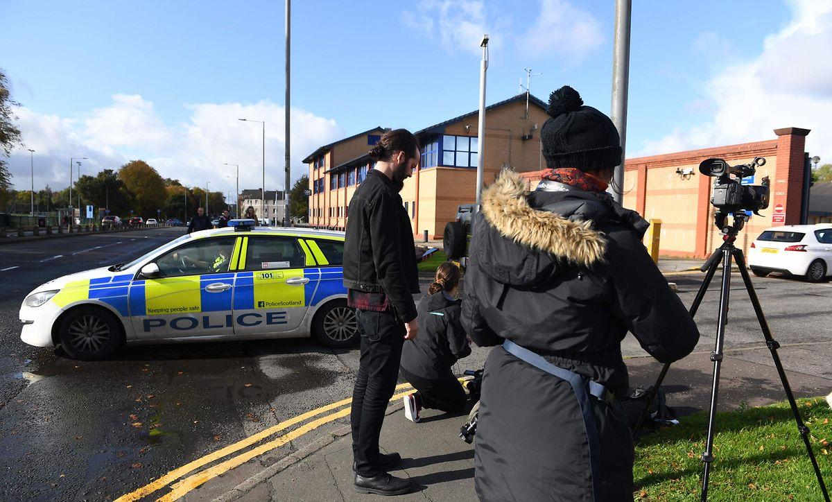 A esquadra de polícia em Glasgow, Escócia onde Guy João ficou detido.