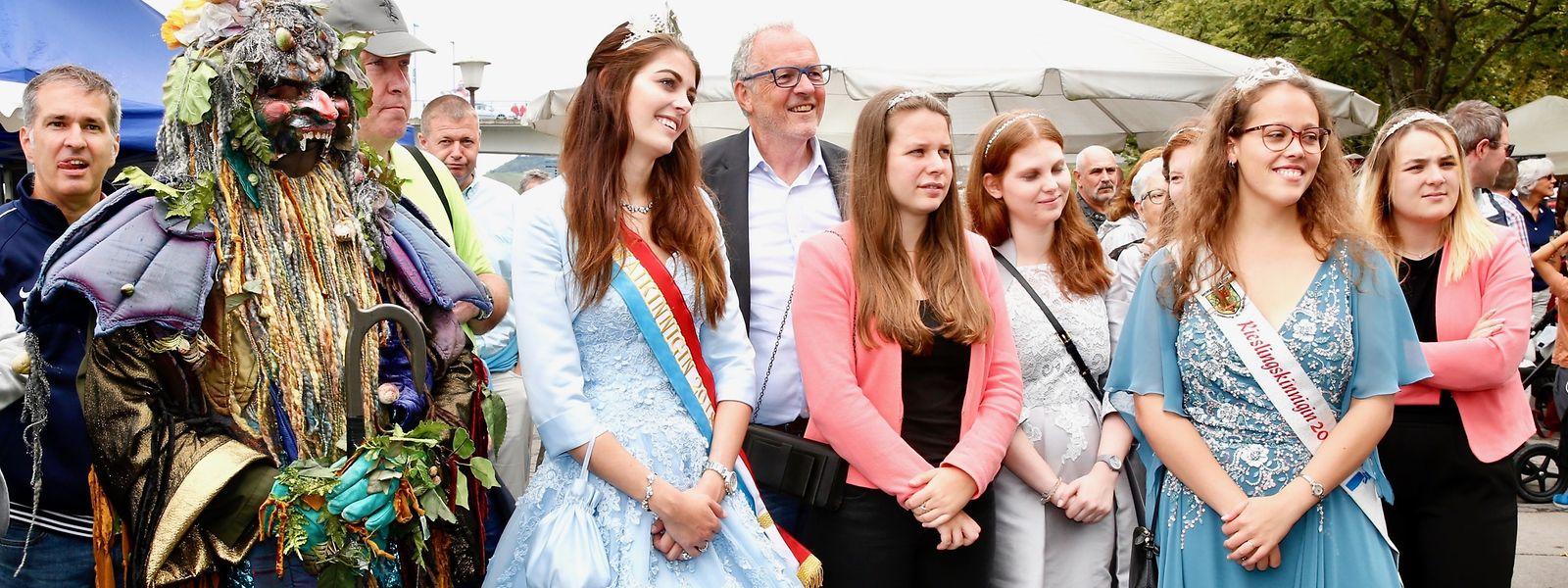 Der Gott des Weines hatte sich unter anderem zu der Luxemburger Weinkönigin und der Rieslingkönigin gesellt.
