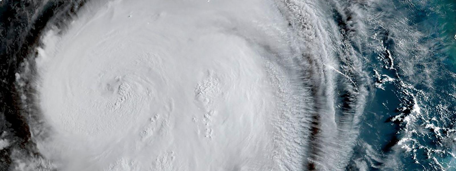 Ein Satellitenbild zeigt den Hurrikan Laura.