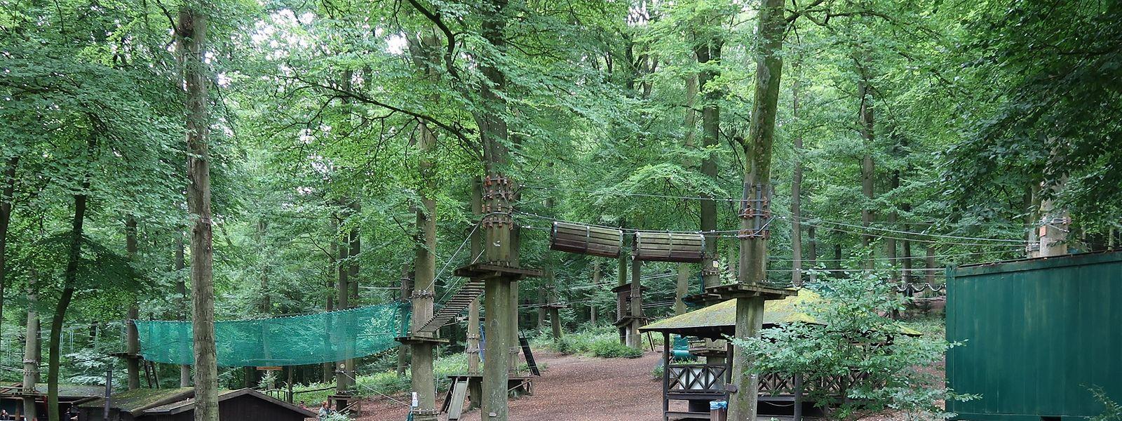 Mitten in einem idyllischen Wald gelegen, bietet der Kletterpark mit seinen vielen Installationen seinen Besuchern jede Menge Action. Diese müssen unter anderem über Hängebrücken balancieren, durch Holzröhren kriechen und sich an Seilen von Baum zu Baum schwingen.