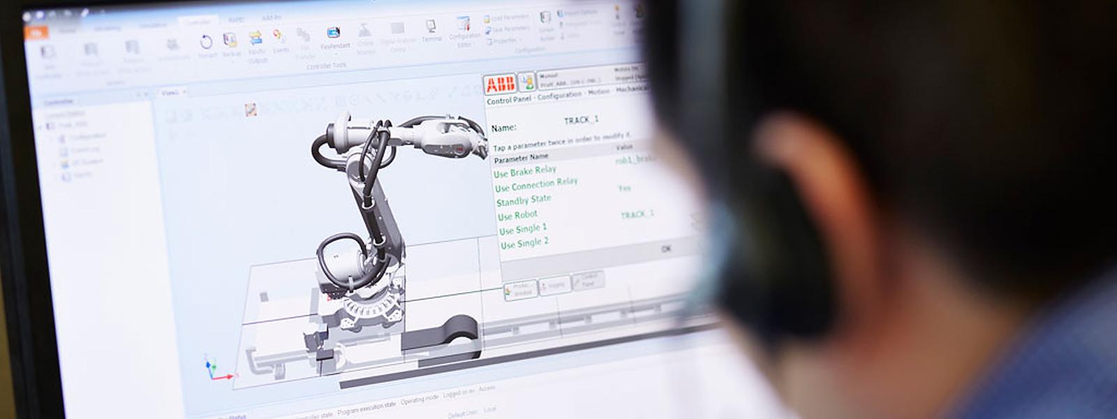 ABB gehört neben Fanuc mit Europasitz Echternach zu den großen Anbietern von Industrierobotern.