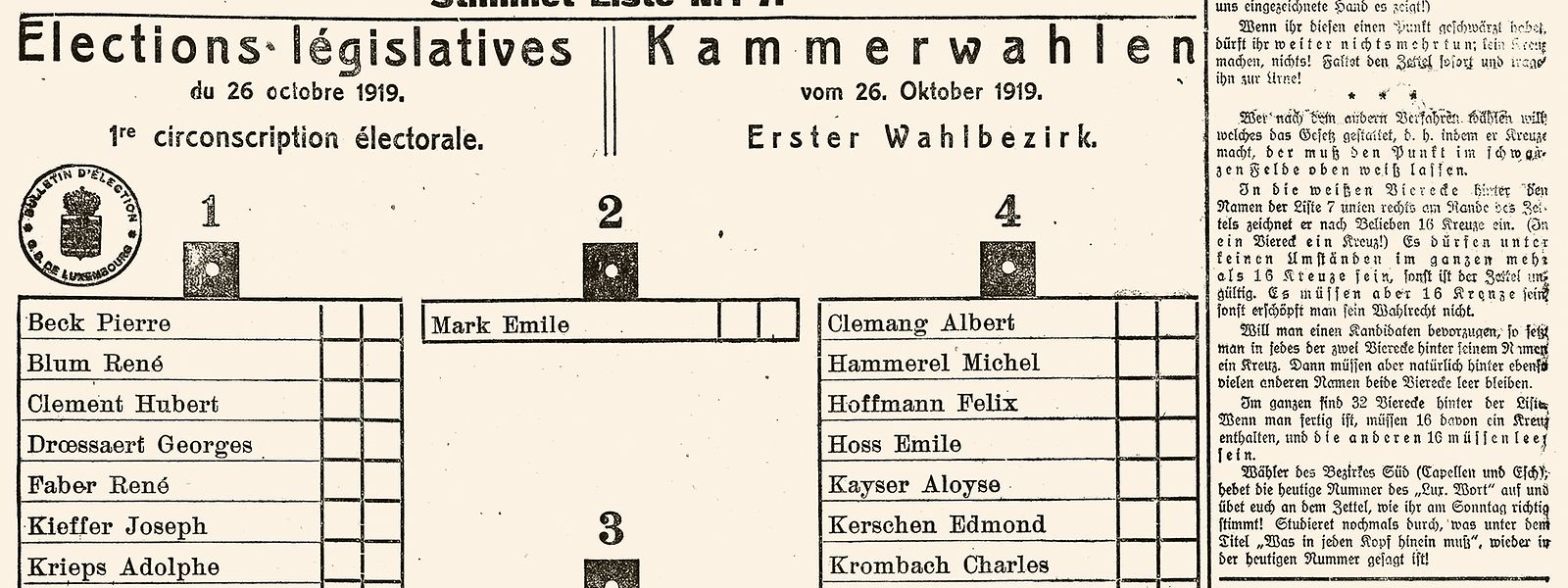 Zu den ersten allgemeinen Wahlen erklärte die Zeitung, wie der Wahlzettel auszufüllen sei.