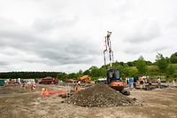 Neue Parkplätze im Bau / Neues Recyclingzenter in Differdingen / 22.6.2016 / Niederkorn / Foto: Ralph Hermes / Imagify