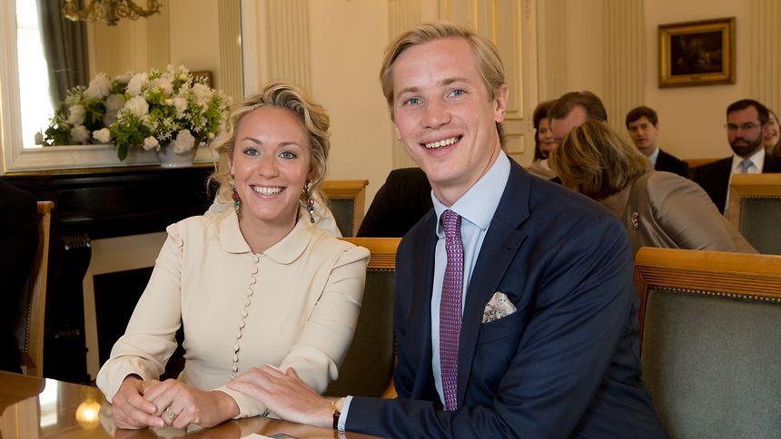 Das glückliche Paar: Prinzessin Marie-Gabrielle von Nassau und Antonius Willms.