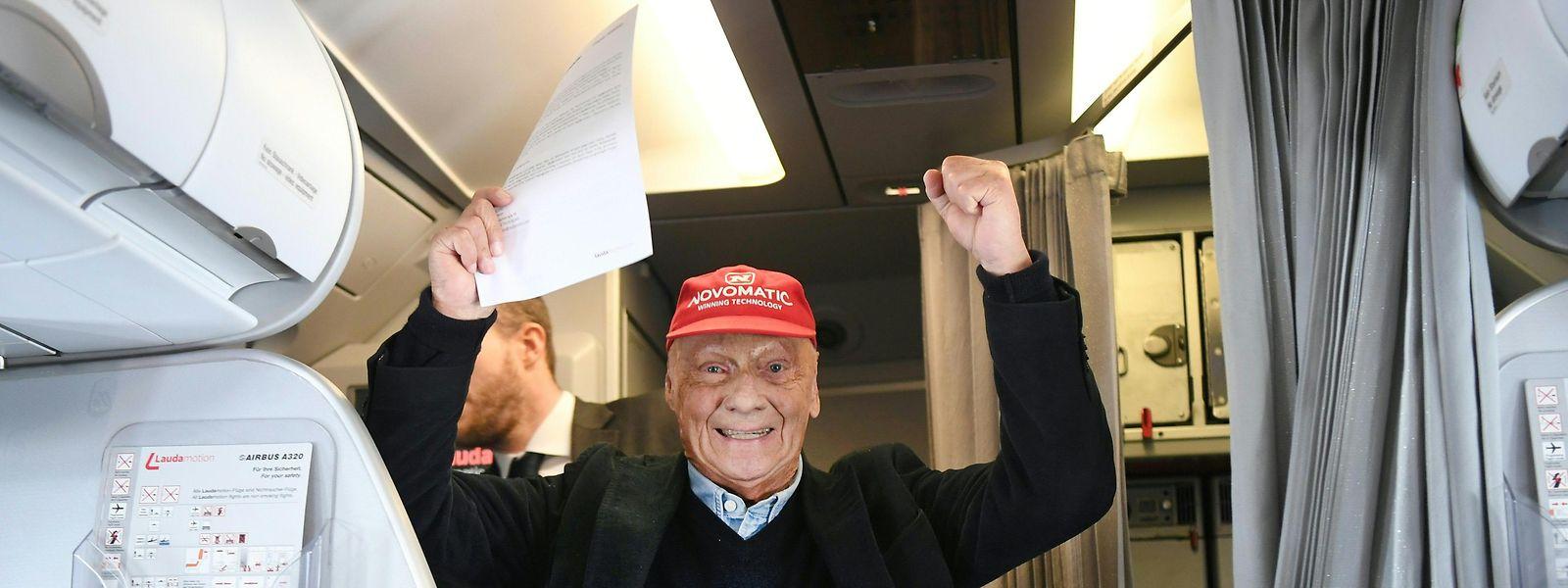Grund zur Freude: Niki Lauda will wieder abheben.