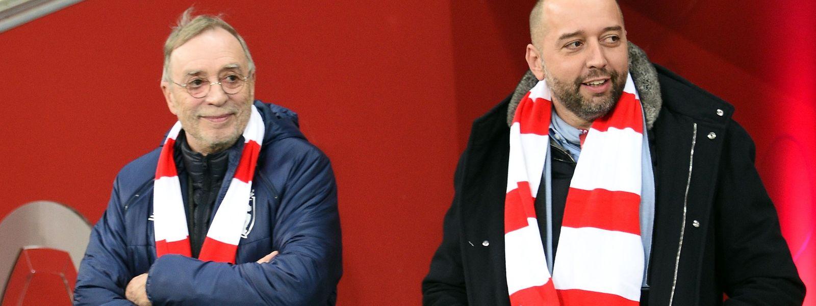 Vor seinem Engagement in Lille war Gerard Lopez (r., mit seinem Vorgänger Michel Seydoux) noch guter Dinge.