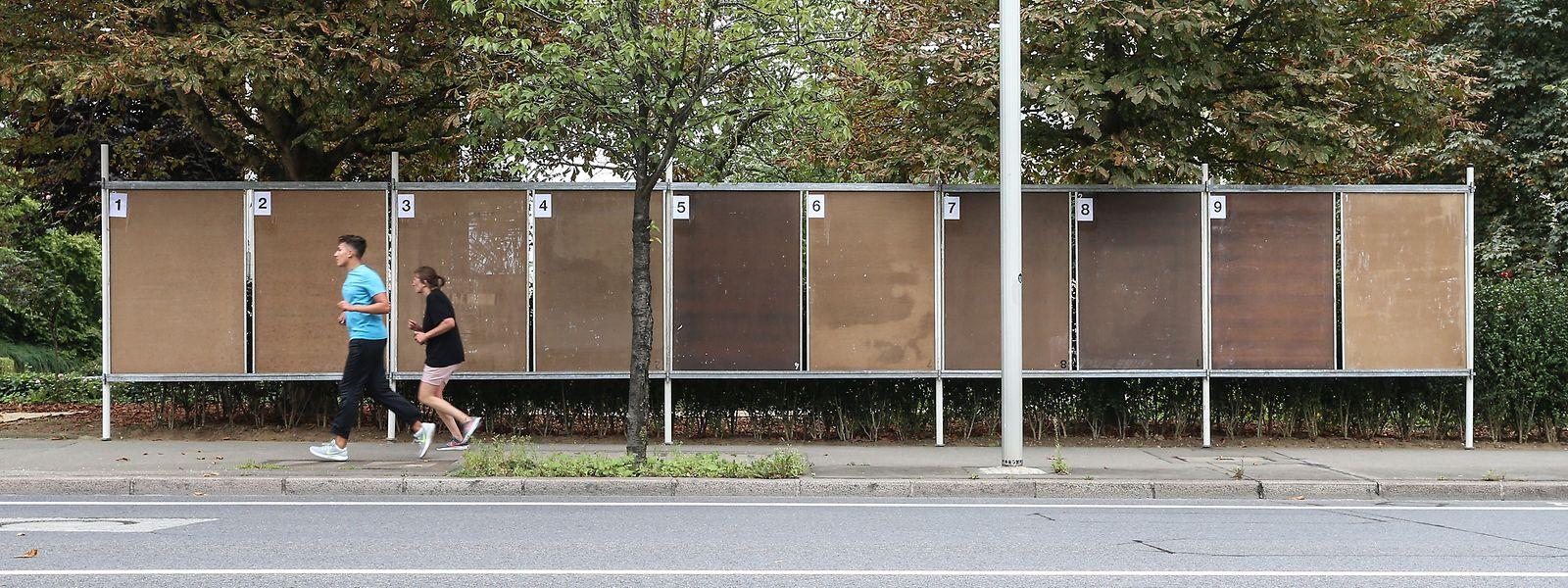 Les panneaux de campagne électorale, en 2017.