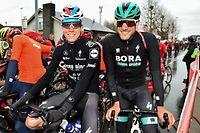 Bob Jungels (L/Deceuninck) und Jempy Drucker (L/Bora) - Kuurne-Brussel-Kuurne 2019 - Foto: Serge Waldbillig