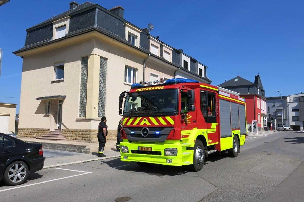 Die Feuerwehr aus Hesperingen löschte den Brand.