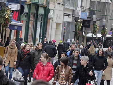 04.01.13 illustration wirtschaft: konjunktur, kaufkraft, konsum, verbraucher, wirtschaft, verkauf, grand rue luxembourg, photo: Marc Wilwert