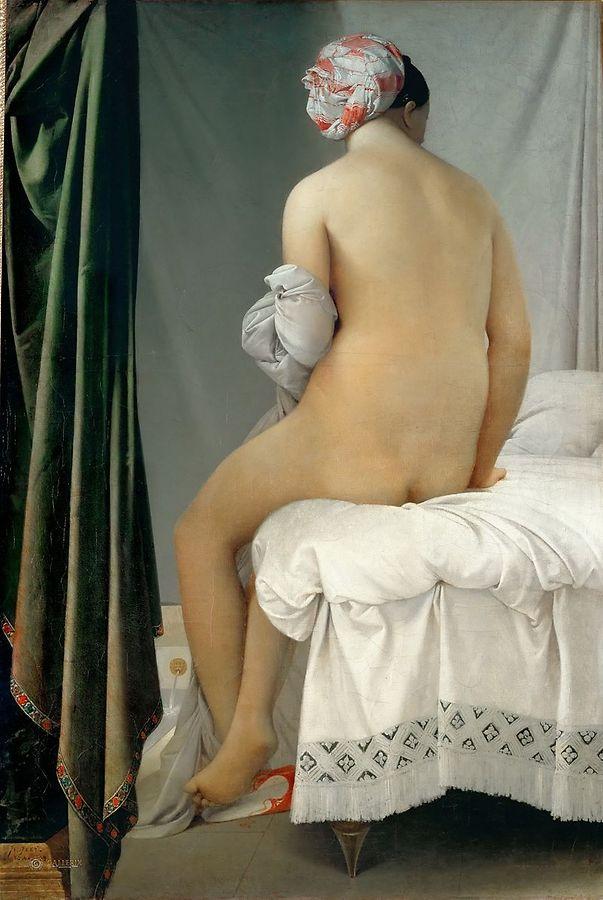 """Auch """"Die Badende von Valpincon"""" (1808) hängt im Louvre. Ihr Schöpfer, der klassizistische Maler Jean-Auguste-Dominique Ingres gilt als einer der renommiertesten Verteter der französischen Kunst im 19. Jahrhundert."""