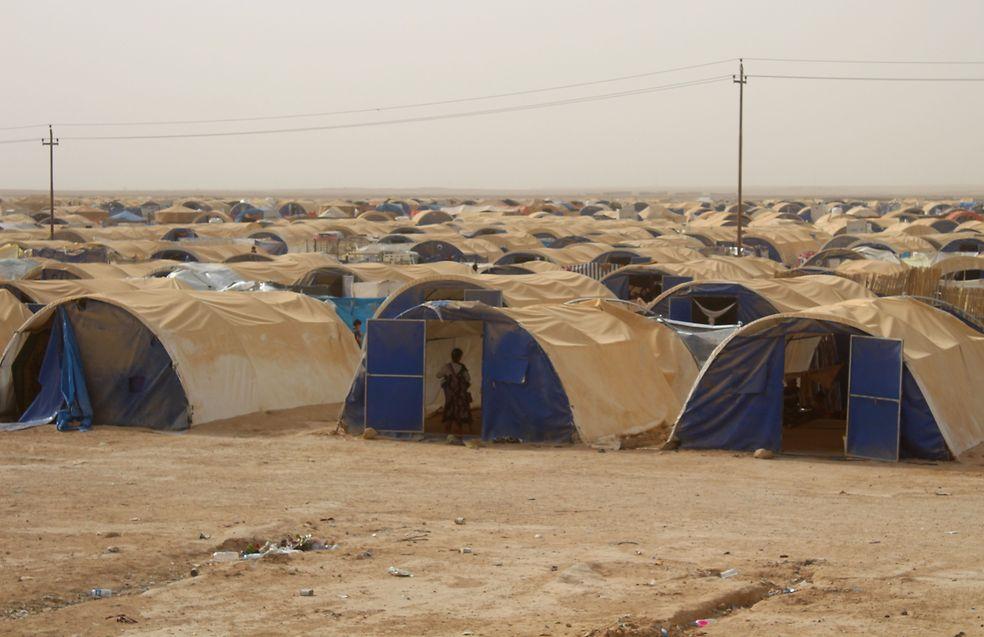Ein Flüchtlingslager 20 Kilometer von der ehemaligen IS-Hochburg Falludscha entfernt.