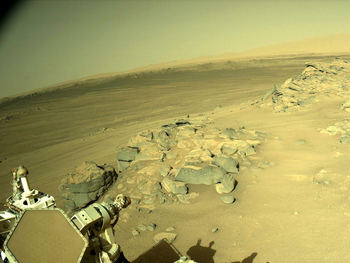 Voilà le paysage qui s'offre au rover Perseverance.