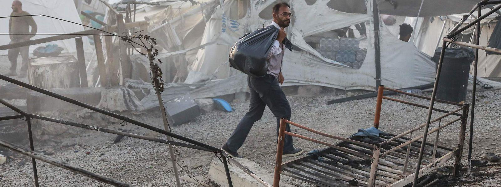 Tausende Flüchtlinge sind nach dem Feuer im Lager Moria nun obdachlos.
