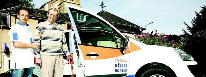 """Die """"Stëftung Hëllef Doheem"""" ist täglich landesweit mit 600 Autos für ihre Klienten im Einsatz."""