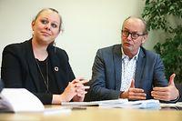 IPO,Nationaler Klima-undEnergieplan,Carole Dieschbourg & Claude Turmes. Foto: Gerry Huberty/Luxemburger Wort