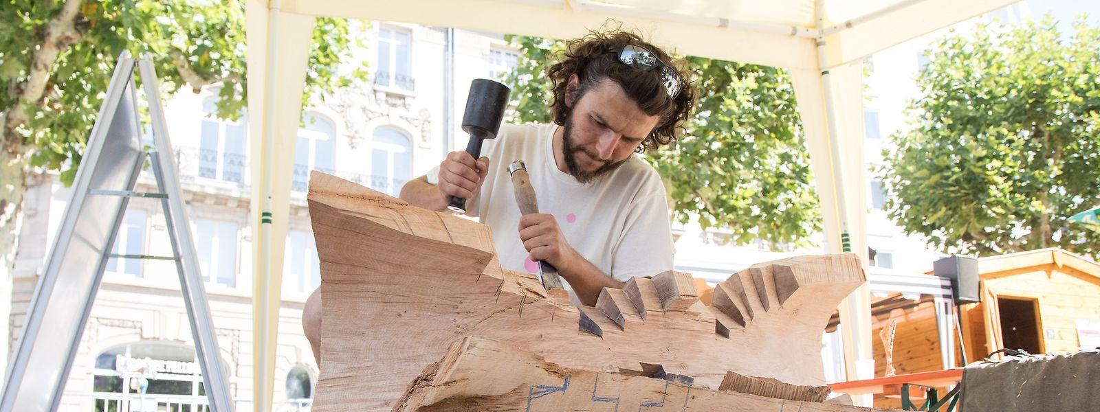 Carlo Abba bei der Arbeit am Place de Paris.