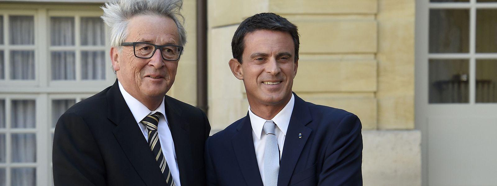 Born to be wild? Juncker mit dem französischen Premier Manuel Valls