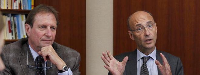 Roland Kuhn (links) ist Präsident der Handwerkskammer, Michel Wurth präsidiert die Handelskammer.