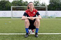 Marta Estevez. Football: Entraînement équipe nationale. FLF, Mondercange. Foto: Stéphane Guillaume
