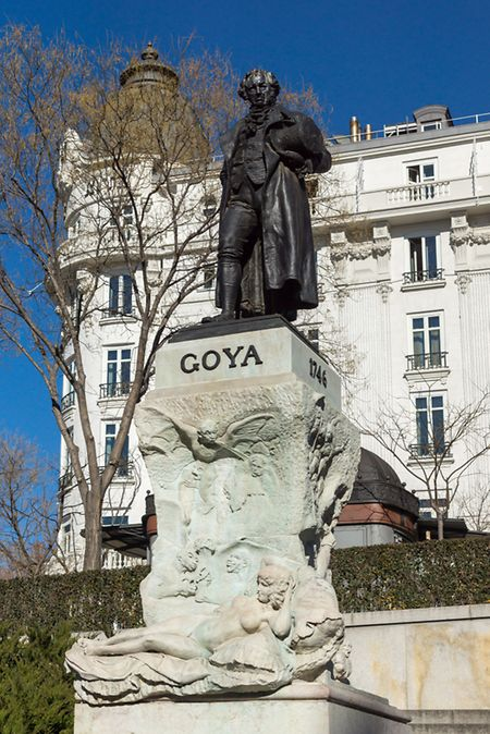 Goya's paintings are on display in the Prado Museum