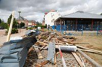 Lokales, online, Bascharage, , Tornado, Sturm, der Tag danach, Aufräumarbeiten,   Foto: Anouk Antony/Luxemburger Wort