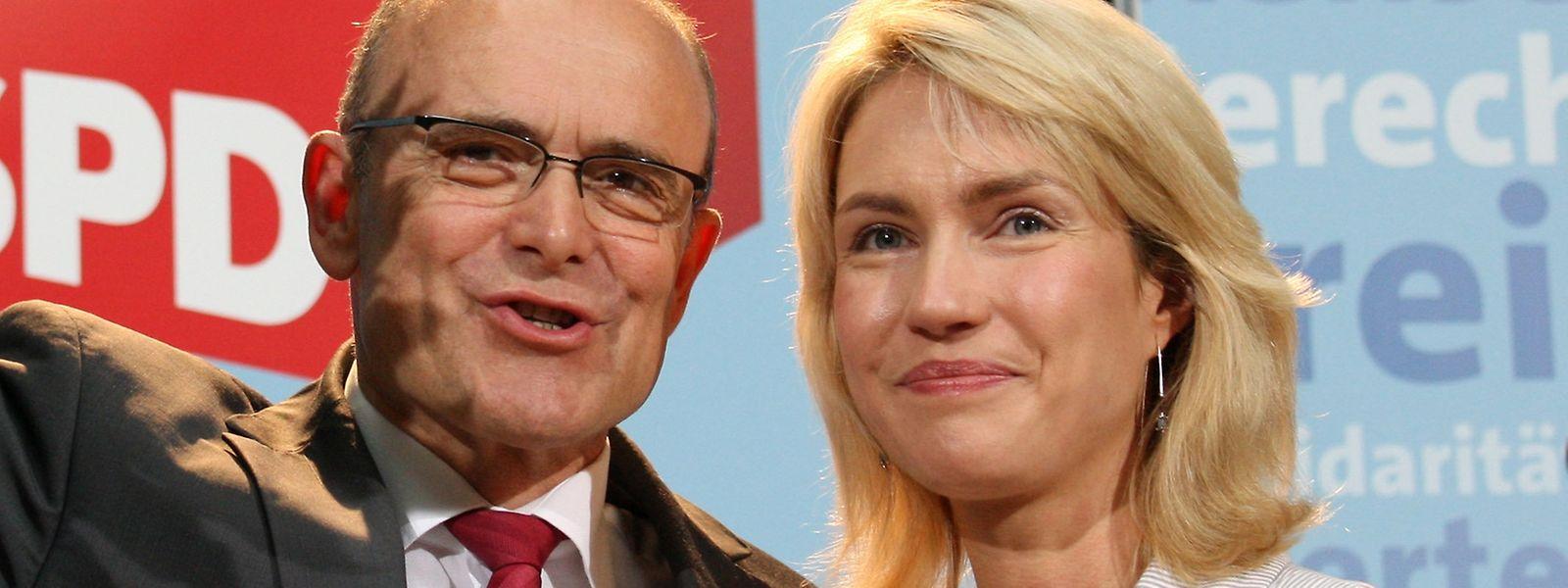 Sellering und Schwesig auf einer Aufnahme aus dem Jahr 2011.