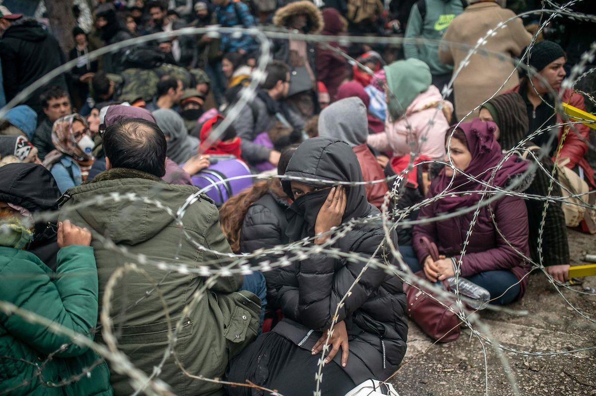 Dramatische Bilder an der Grenze ...