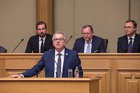 Le ministre des Finances Pierre Gramegna a présenté les orientations budgétaires ce lundi.