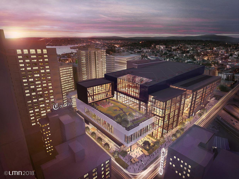 Le futur bâtiment du Washington State Convention Center de Seattle.