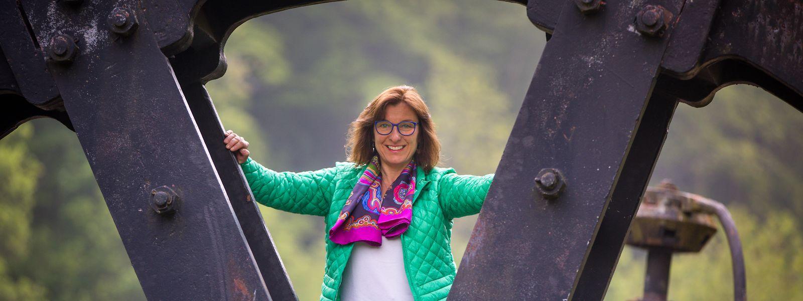 Fototermin in Fond-de-Gras: Tilly Metz, die zusammen mit Meris Sehovic die Grünen-Liste für die EU-Wahlen anführt.