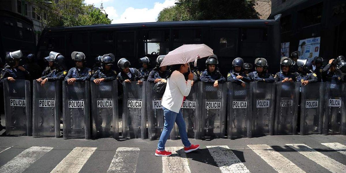In Mexico City protestieren Farmer gegen die schlechten Zustände im Vorfeld der Nafta-Verhandlungen.
