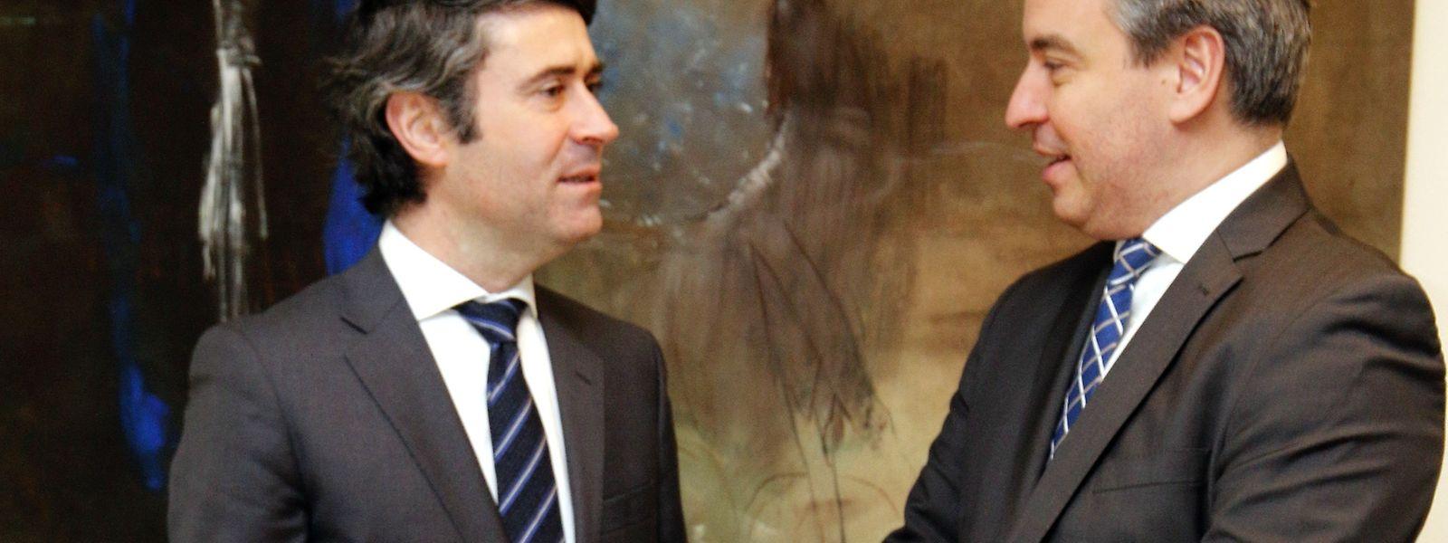 José Luís Carneiro com o ministro da Educação Claude Meisch.