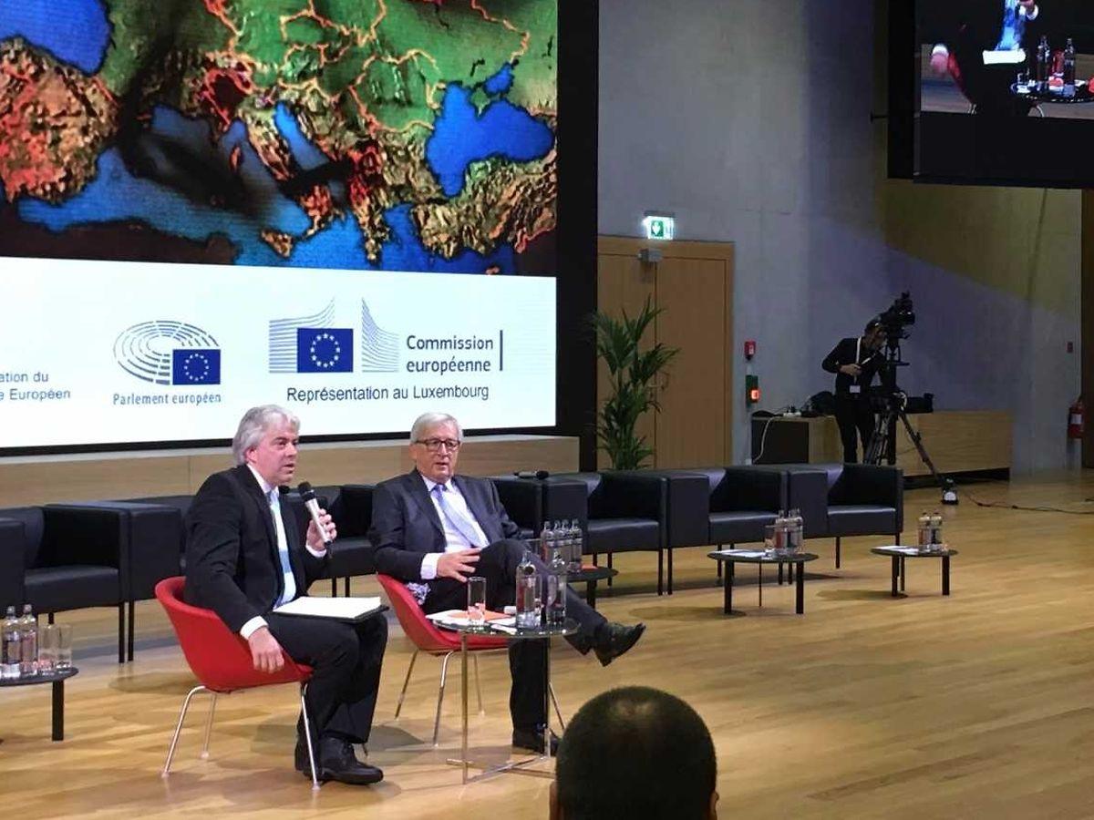 Andreas Fickers e Jean-Claude Juncker.