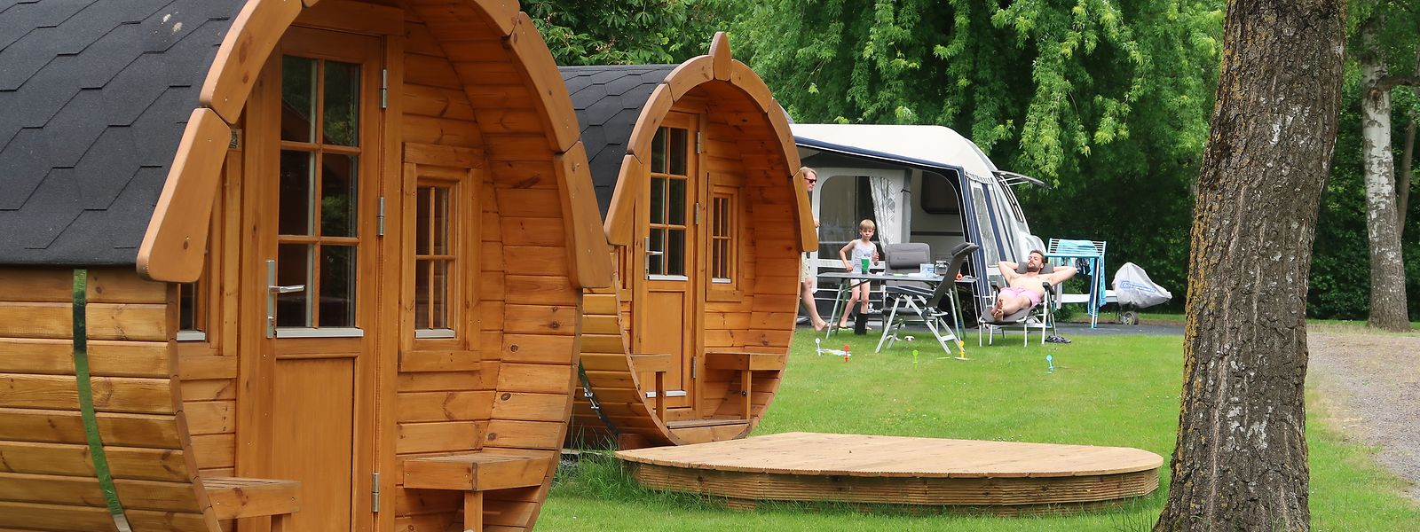Der Campingplatz in Bleesbrück bietet so manche ungeahnte Annehmlichkeiten.