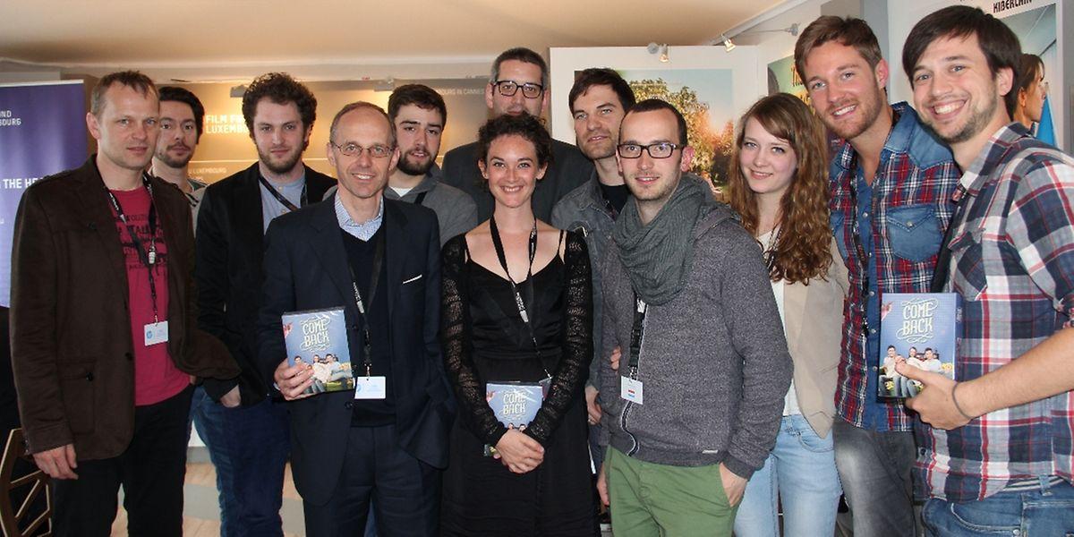 Le tout nouveau ministre des Communications, Luc Frieden, a pu rencontrer l'équipe de la série télévisée.