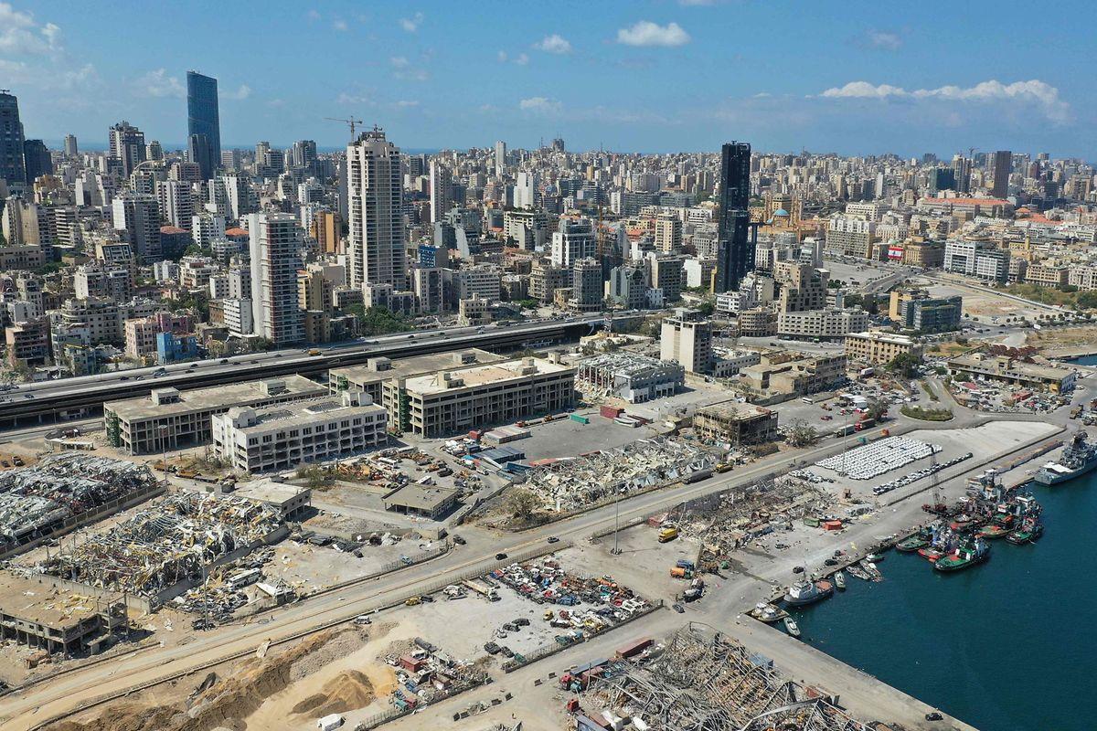 Im Hafen von Beirut sollen rund 2.750 Tonnen Ammoniumnitrat explodiert sein.