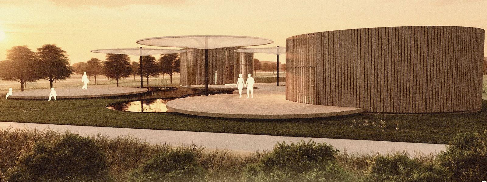 Ein solcher Pavillon soll für 2022 im Park Belval errichtet werden.
