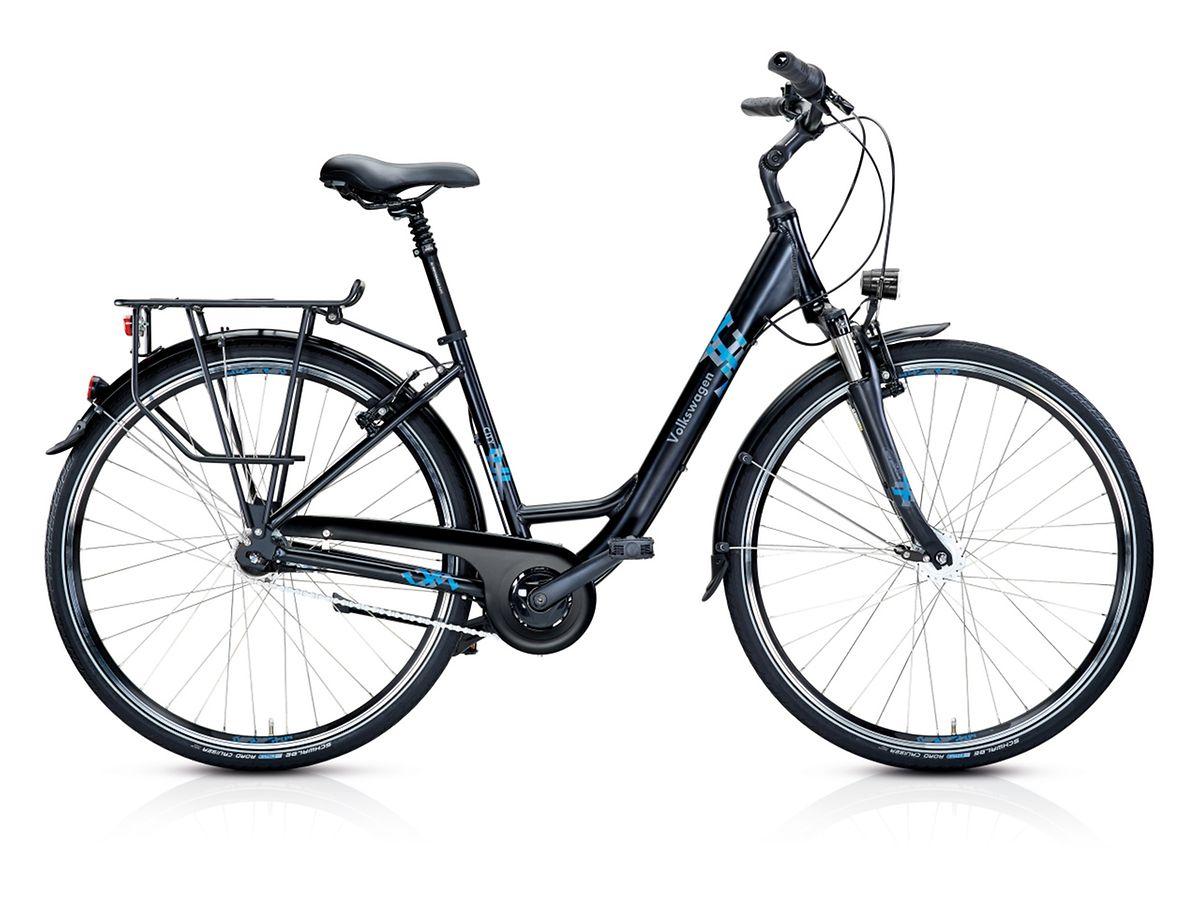 VW bietet ein Mountain-, ein Trekking- und ein City-Bike (im Bild) zu Preisen ab 670 Euro.
