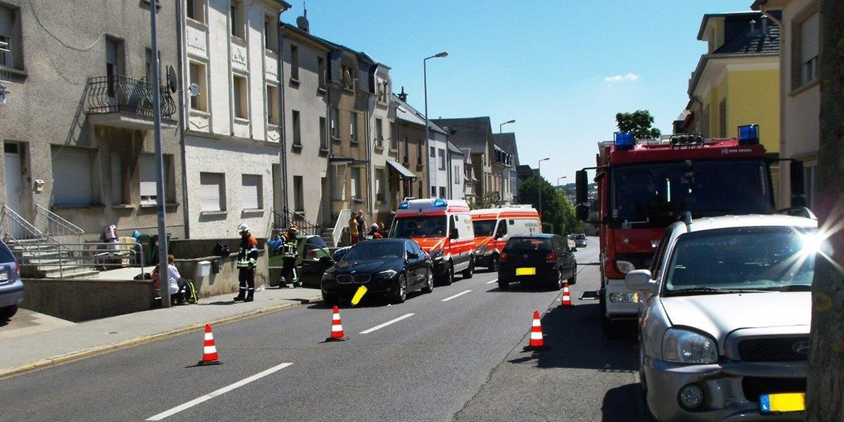 La route de Kayl a été perturbée à la mi-journée le temps d'évacuer les victimes et les véhicules