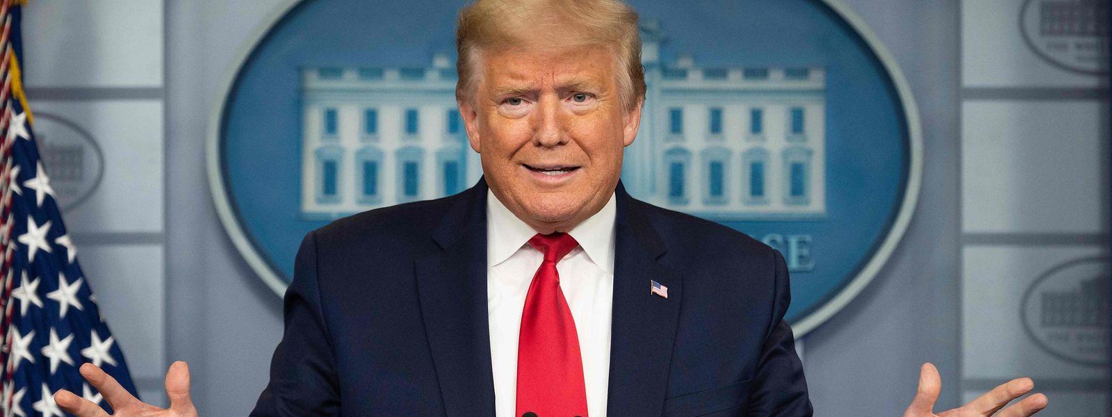 US-Präsident Donald Trump ist während der täglichen Pressekonferenzen ganz in seinem Element.