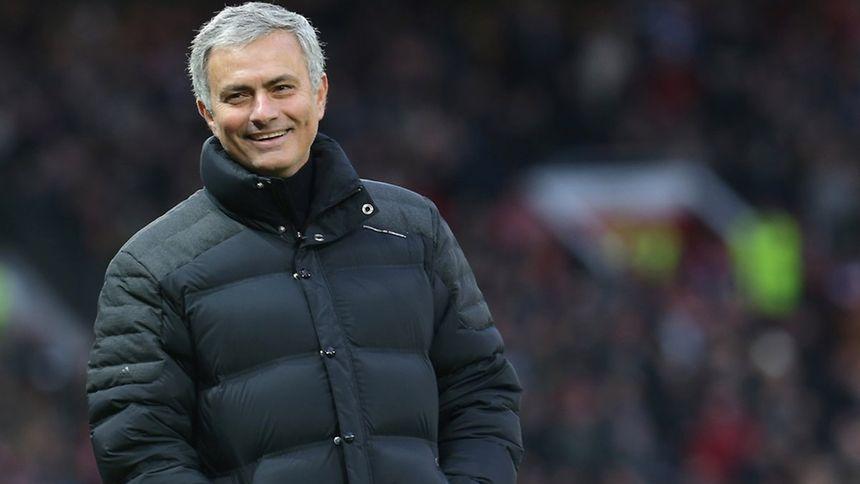 O treinador do Man. United, o português José Mourinho